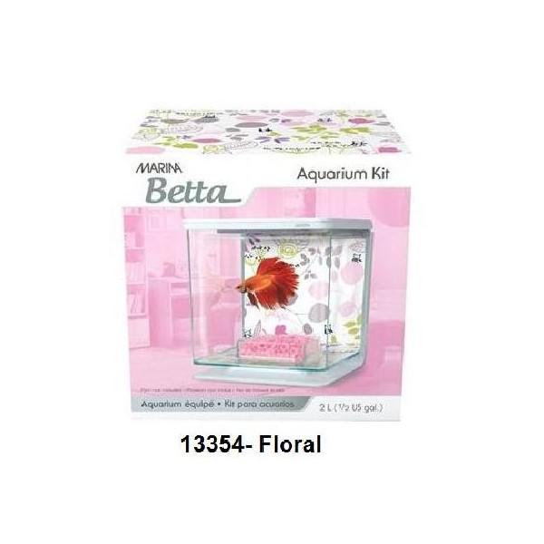 Aaquaray28 betta kit floral marina for Aquarium en solde